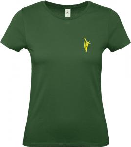 Damen-Top dunkelgrün Vorderseite