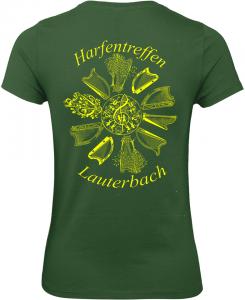 Damen-Top dunkelgrün Rückseite
