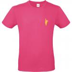 T-Shirt fuchsia Vorderseite