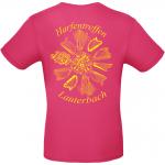 T-Shirt fuchsia Rückseite